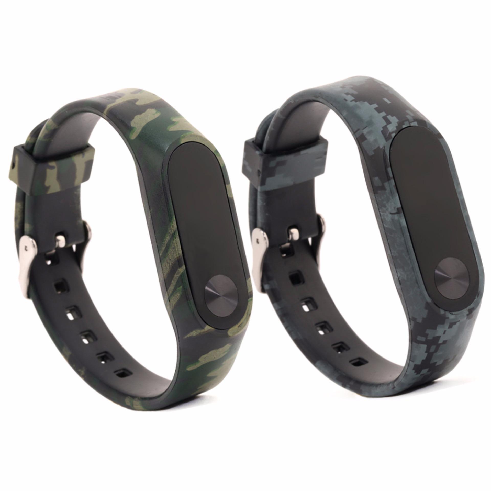Cheap online PCS 2 Banyak Warna penggantian tali untuk Mi Band 2 Band Smart gelang aksesoris