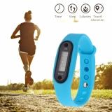 Gambar Produk Rinci Pedometer Kebugaran Tracker Gelang Penghitung Langkah dengan Silicone Watchband (Biru)-