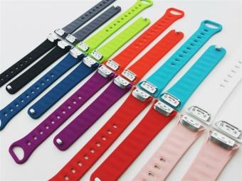 Harga Penggantian tali pengikat gelang silikon untuk Samsung Gear Fit2SM R360 GPS Smart Band perhiasan kebugaran
