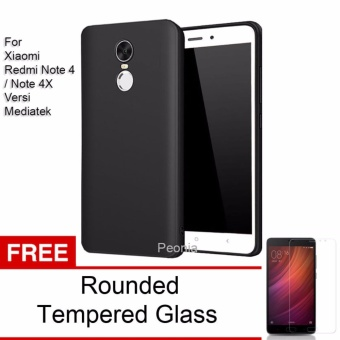 Peonia Anti Fingerprint Premium Quality Grade A Ultraslim Hybrid Case for Xiaomi Redmi Note 4 Mediatek