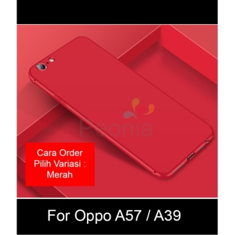 Peonia Anti Fingerprint Premium Quality Grade A Ultraslim Hybrid Case for Oppo A39 / A57