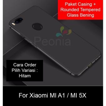 Peonia Anti Fingerprint Premium Quality Grade A Ultraslim Hybrid Case for Xiaomi MI A1 / MI