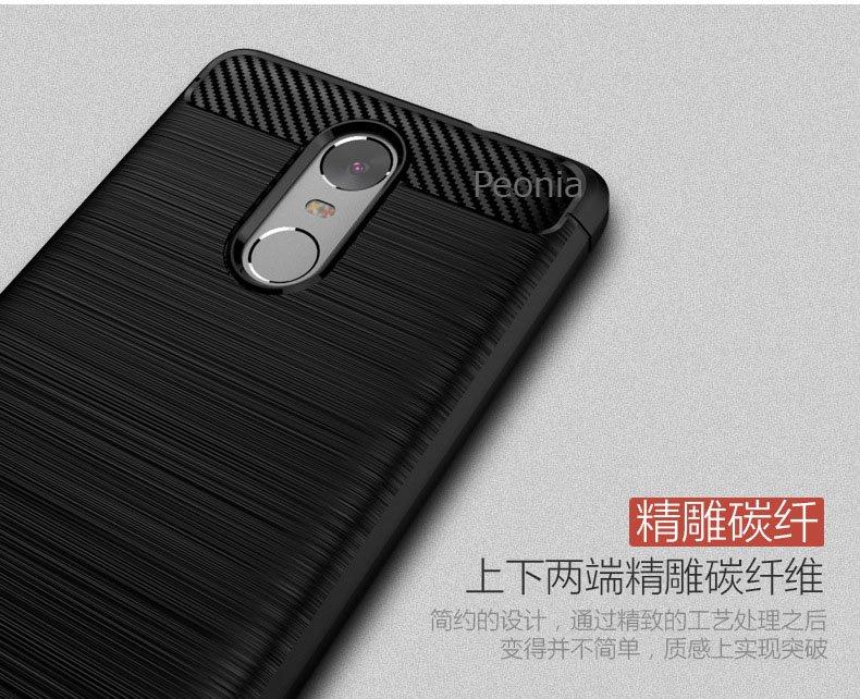 ... Peonia Carbon Shockproof Hybrid Premium Quality Grade A Case for Xiaomi Redmi Note 3 / Prime ...