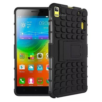 Peonia Kickstand Robotic Case for Lenovo a7000 / a7000 Special Edition - Hitam