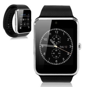 Perhiasan Notifier Sinkronisasi Jam Pintar Dengan Kartu SIM Konektivitas Bluetooth (Perak) - 2