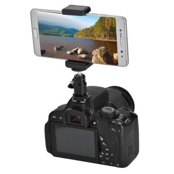 Phone Bracket Holder Clip Tripod Mount Adapter with 360 Ball Headfor iPhone Samsung - intl