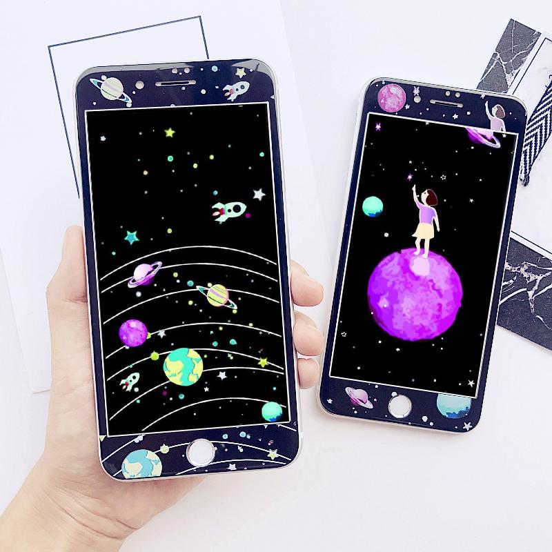 Warna Pelindung Layar Pelindung Source · Planet iphone8 7plus3d kartun sebelum layar penuh .