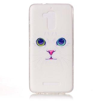 Pola Printing TPU Cover case untuk Asus Zenfone 3 Max ZC520 TL - kucing pola