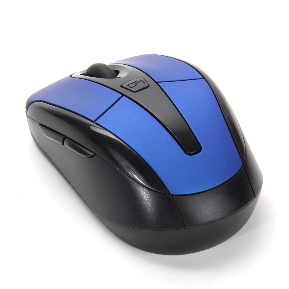 ... Portabel 2, 4G Wireless Mouse Optik Mouse untuk komputer PC (biru)- International ...