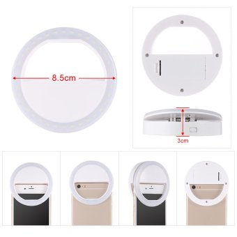 Portable Clip-on Mini 36 LED Selfie Ring Lamp Fill-in Light Night Using Supplementary Lighting for iPhone Samsung BlackBerry HTC Huawei LG Smartphone PC - intl