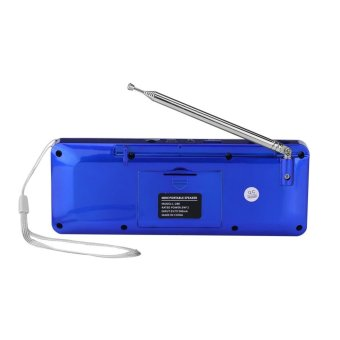 ... Portable FM Radio Mini Speaker Bass Music Player With TF CardFunction(Blue) - intl ...