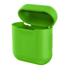 Portable Silicone Shock Proof Protective Case Cover For AppleAirPods Earphone Headphone Sleeve Box Green - intl