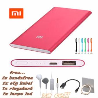 Power Bank Slim 128000mAh + Free Usb LED+handsfree samsung+Otg Kabel Micro+