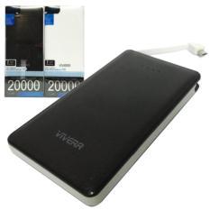 Powerbank viverr Universal 20.000mAh Model Slim Micro Usb For Samsung/Oppo/Htc/Xiaomi putih hitam