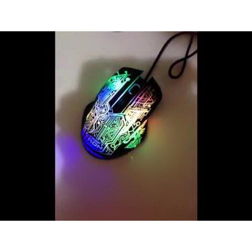 Powerlogic X Craft Tron 5000 Gaming Mouse Hitam Mouse Pad .