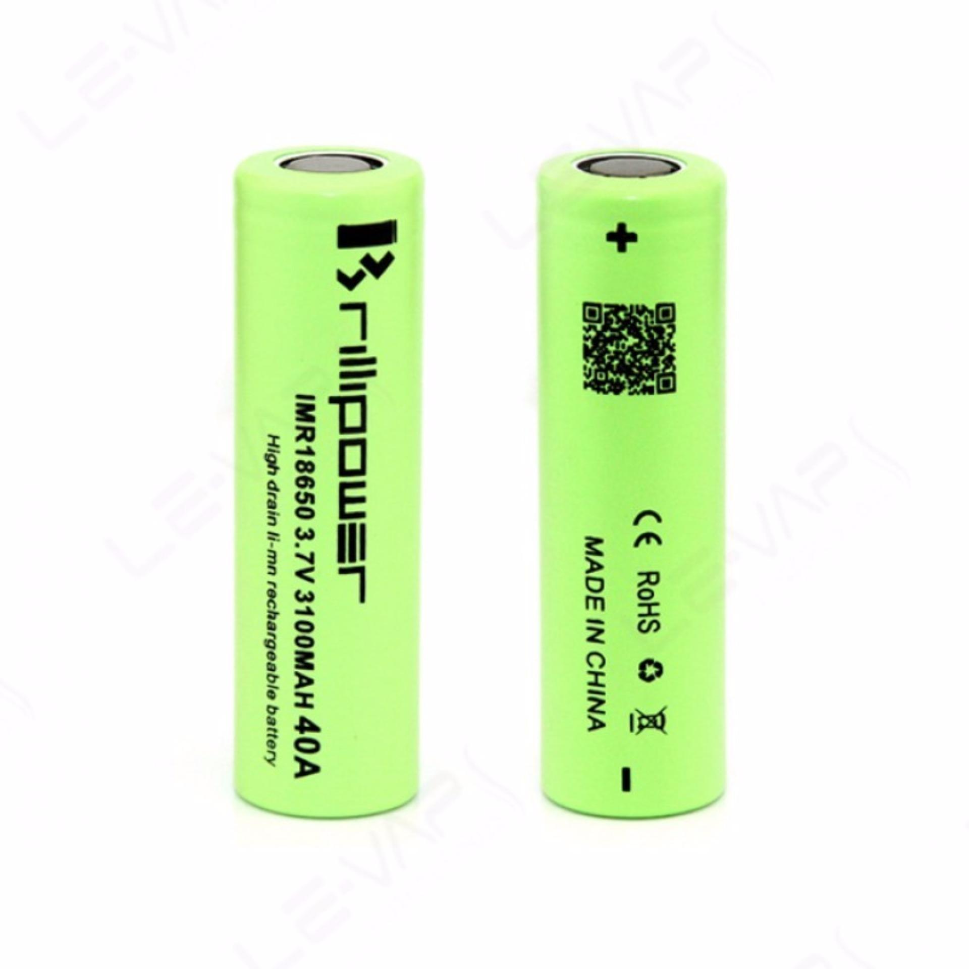 AWT Battery Black Widow IMR 18650 3500 Mah 3.7V 40A Baterai Rokok Elektrik Premium Quality