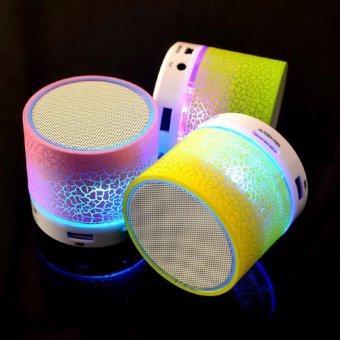 Prime Mini LED Bluetooth Speaker Cracked Colour Edition - Putih - 4