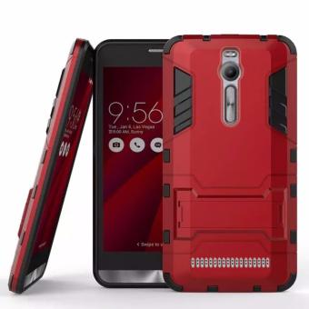ProCase Kickstand Hybrid Armor Iron Man PC+TPU Back Cover Case for Asus Zenfone 2