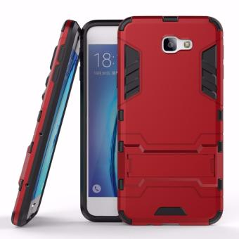 ProCase Shield Rugged Kickstand Armor Iron Man PC+TPU Back Covers for Samsung Galaxy J7 Prime - Red