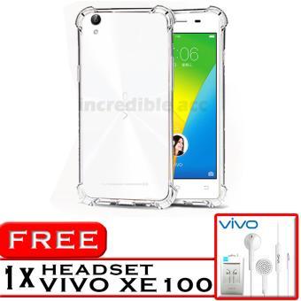 PROMO Case Anti Shock / Anti Crack Elegant Softcase for Vivo Y51 - White Clear +