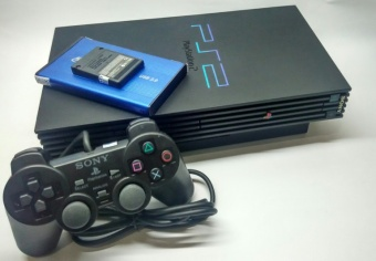PS2 - Sony PlayStation 2 USB Harddisk 40 Gb Console Black Fee Games & MMC