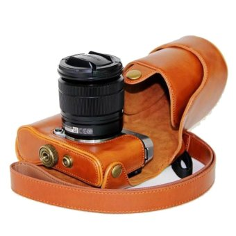 PU Leather Camera Case Bag Cover for Fujifilm X-A10 - intl