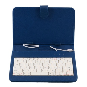 harga PU Leather Stand Case Cover with MINI Micro USB Keyboard For 7 Inch 7'' Tablet - intl Lazada.co.id
