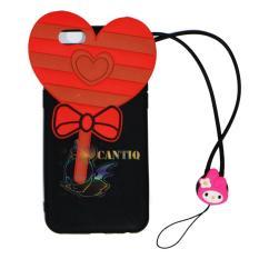 QCF Silicone Case 3D + Necklaces Untuk Oppo A39 Soft Back Case Permen Valentine  - Candy Love