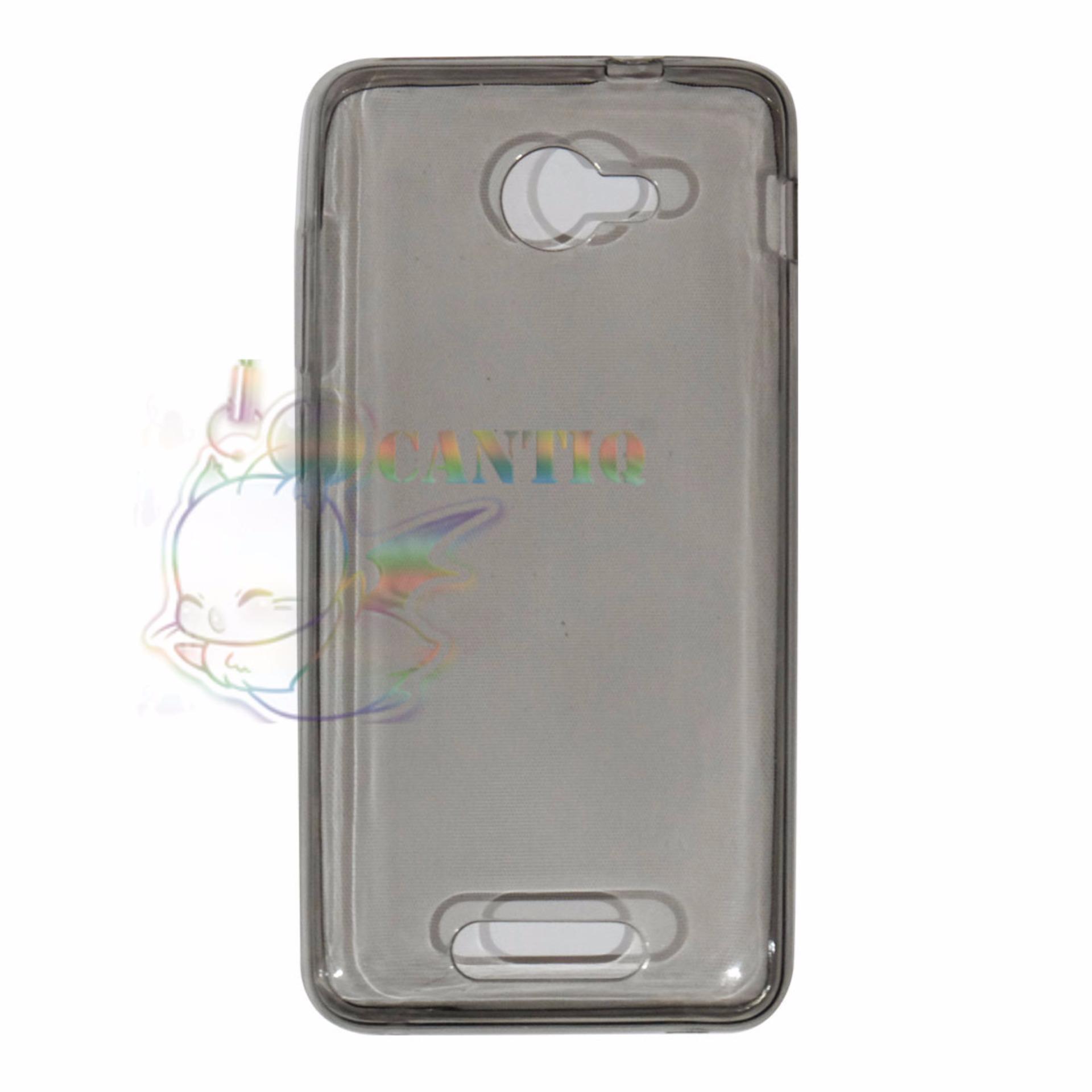 ... QCF Ultrathin Case Untuk Andromax B Ultrafit / Silicone Jelly Case/ SoftCase - Hitam ...
