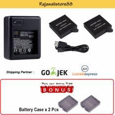 Rajawali 2 Battery AZ-16-1 + USB Charger Dual Slot For Xiaomi Yi 2 (4K) + Free Battery Case