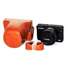 Rajawali Leather Case For Canon EOS M10 Kit 15-45mm - Coklat/Brown