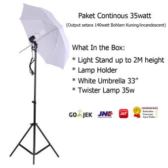 Rajawali Paket Lampu Studio Continous Light 35 Watt