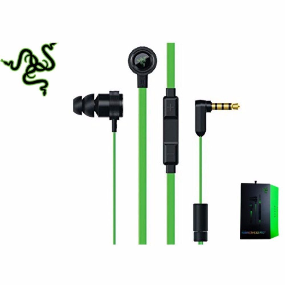Razer Hammerhead Pro V2 Headphones Omnidirectional Microphone and Volume Controls In-Ear PC and Music