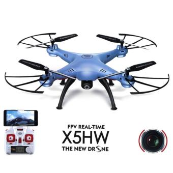 RC Quadcopter Syma X5HW-I Wifi FPV Drone with HD Camera Live Video Altitude Hold Function 2.4Ghz 4CH - Blue