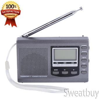(Ready Stock) Portabel Mini Radio FM/MW/SW Penerima With Digital Alarm