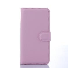 [Ready Stock] SZYHOME Ponsel Case untuk HTC Desire 320 Mewah Retro Kulit Dompet Flip Penutup Hitam Biru Coklat Hijau Merah Muda Ungu Merah Rose Putih Warna Solid Shell-Intl