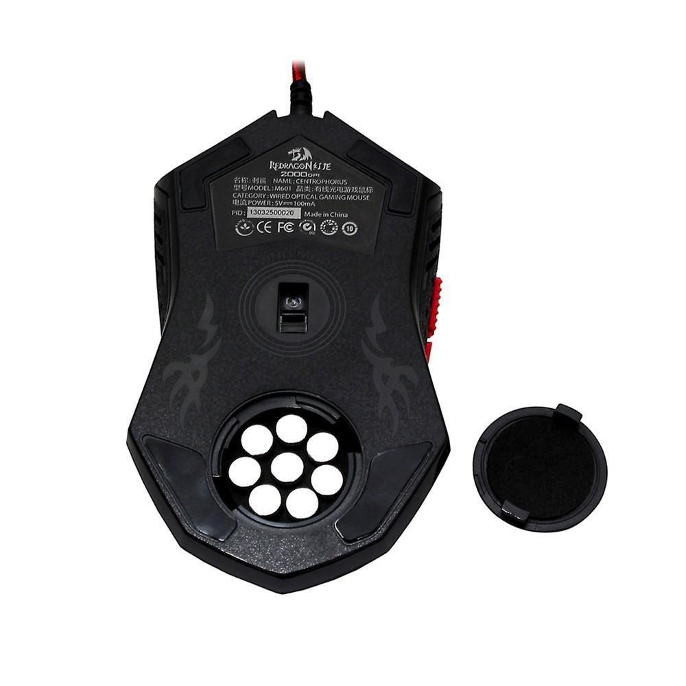 Joox Redragon M601 Centrophorus 2000 Dpi Mouse Gaming Untuk Pc Madcatz Rat9 Wireless Putih 3200 6 Tombol Berat Tuning