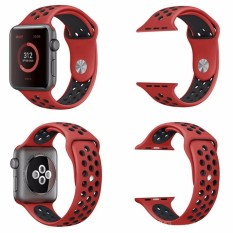 Rp 77.105. Replacement For Apple Watch Nike Band 38mm, Soft Silicone Nike + Sport Style IWatch Strap Band Wristband For Apple Watch Series 1 And ...