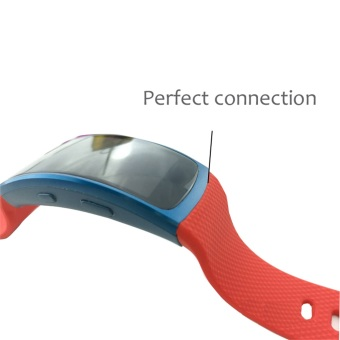 Replacement Silicone Strap WristBand For Samsung Gear Fit2 SM-R360GPS Sports Smart Band Fitness Watch Activity Tracker in Red