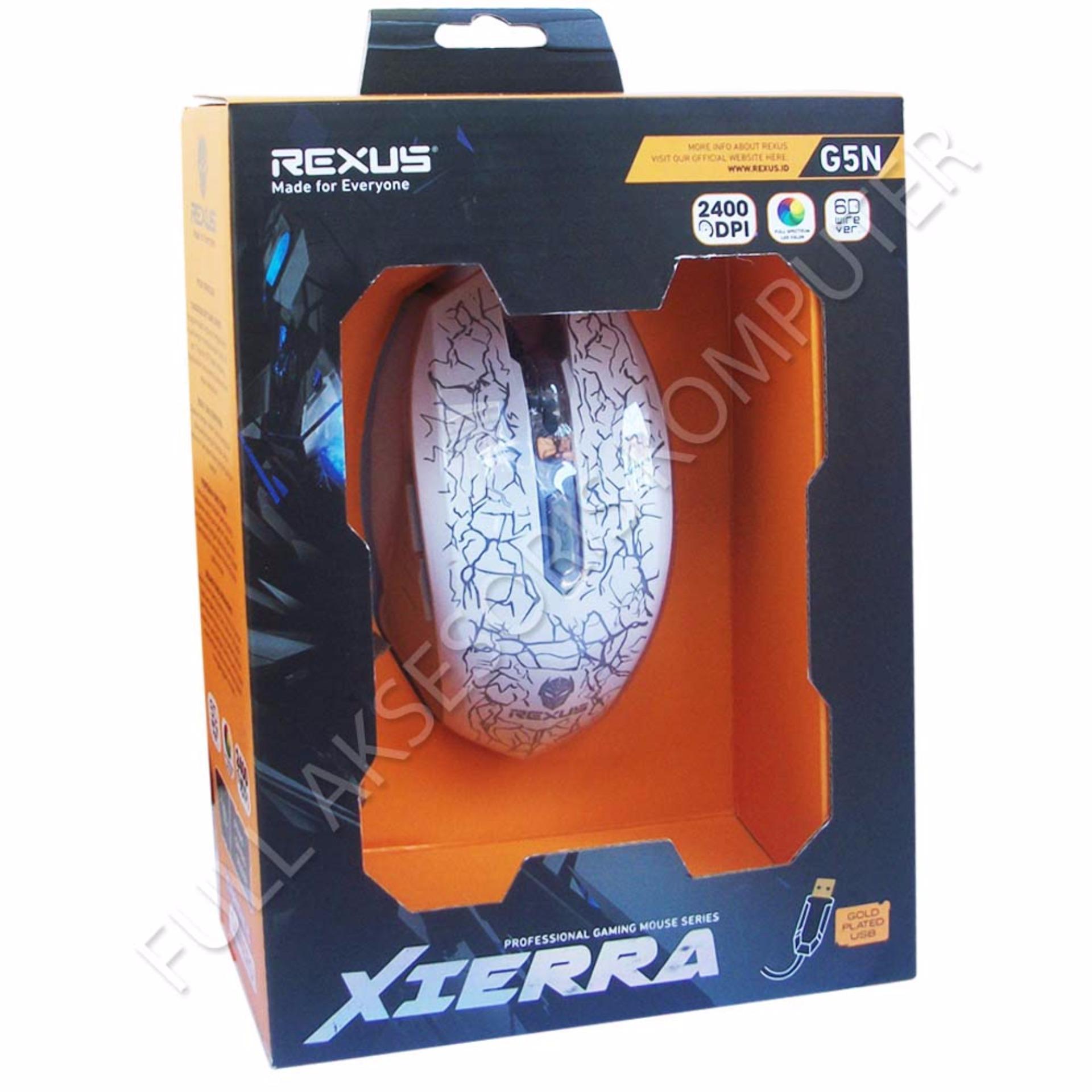 Periksa Peringkat Rexus G5n Mouse Gaming 6d Usb With Led Putih Titanix Tx7
