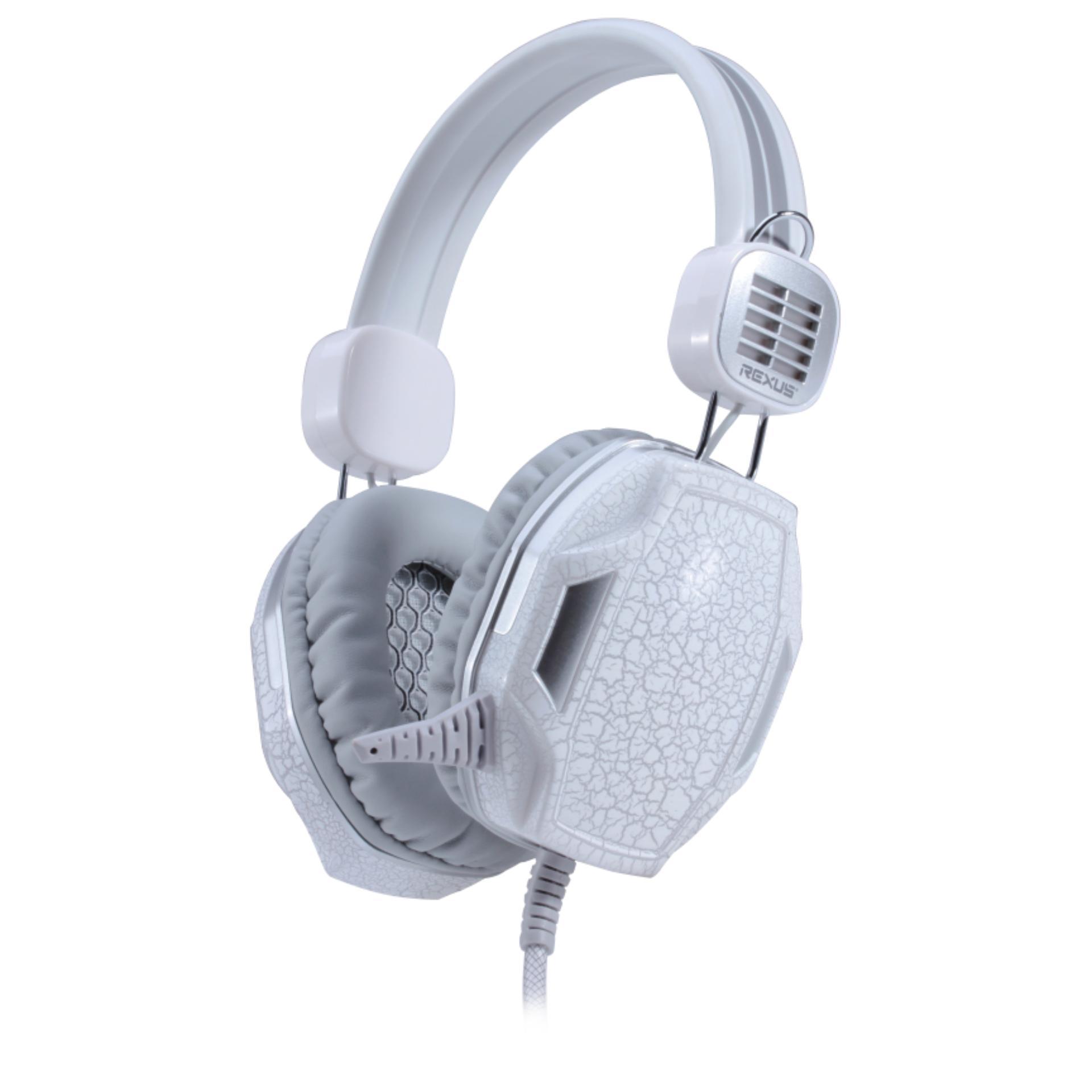 Rexus Headset Gaming F17 F 17 Vonix Headphone Head Set Ear Earphone White