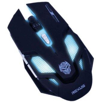 Rexus TX7 Titanix Macro Gaming Mouse Gamers Gamer Game Mous-RXM-TX7 - Black