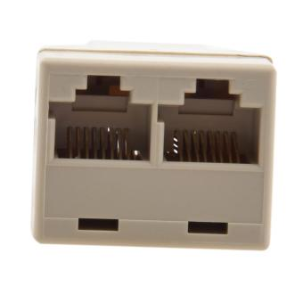 RJ45 CAT 5 6 LAN Ethernet Splitter Connector Adapter PC (Intl)