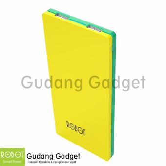 Robot Powerbank RT9100 2 USB Ports 9000mAh Power Bank Yellow-Green