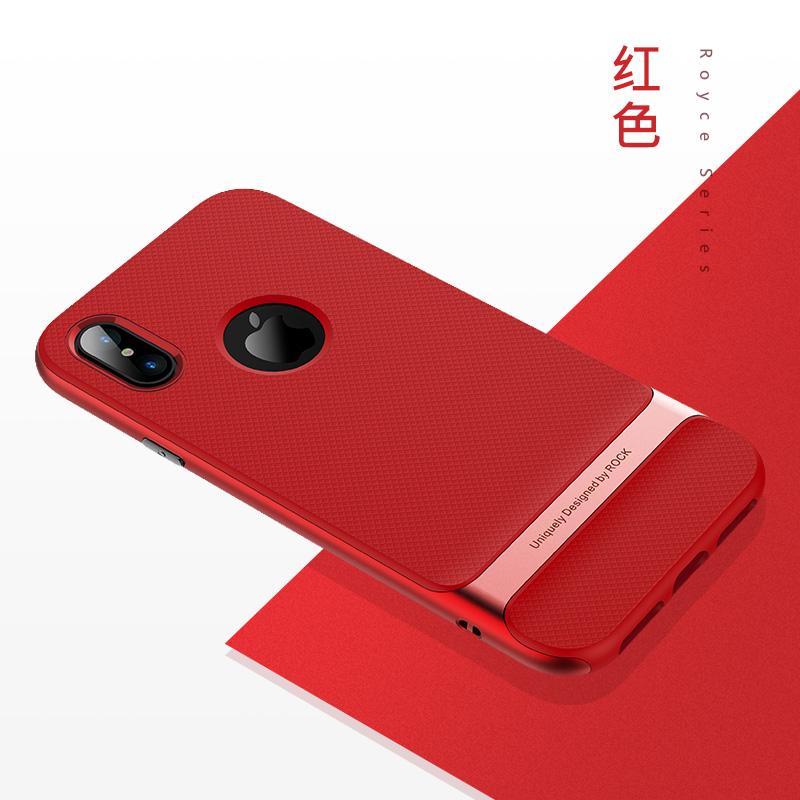 Rock iphone10 kepribadian silikon anti-pria dan wanita matte set ponsel shell