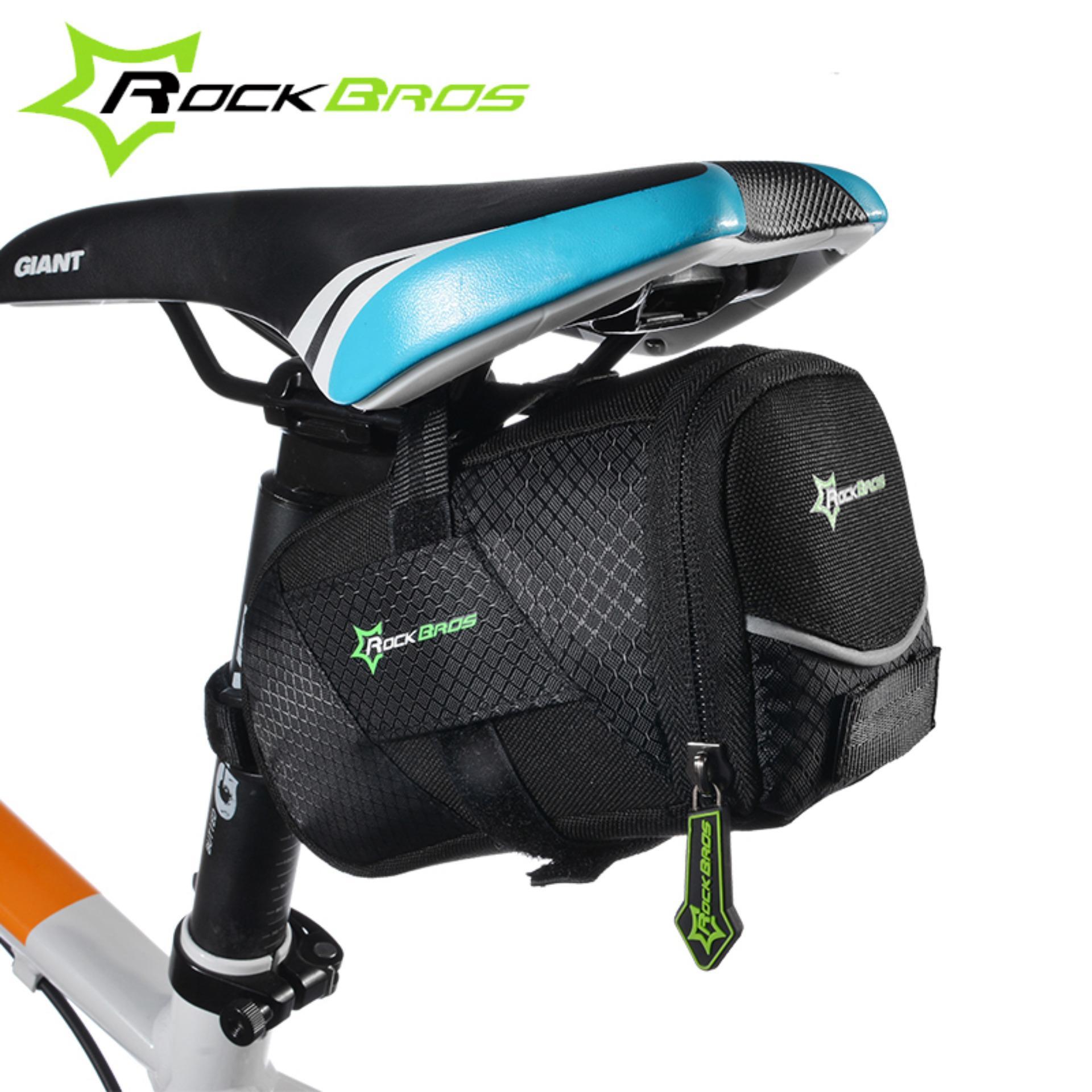 ROCKBROS Mountain Road Bike Bag Tahan Lama Rilis Bicycle Saddle Tas Bersepeda Back Seat Seatpost Tail