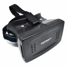 RS Taffware Cardboard VR Box Head Mount Second Generation 3D Virtual Reality - Black
