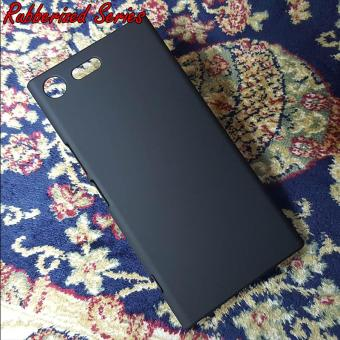 Rubber Hard Case Casing Cover Sony Xperia XZ Premium - Hitam