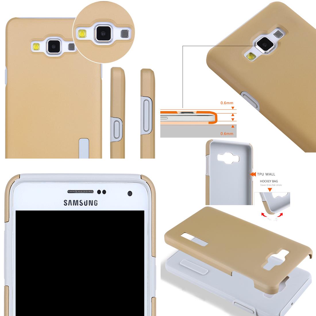 ... RUILEAN TPU/Silicone Dual Layer Hybrid Kickstand Case for Samsung Galaxy E5 (Red) ...
