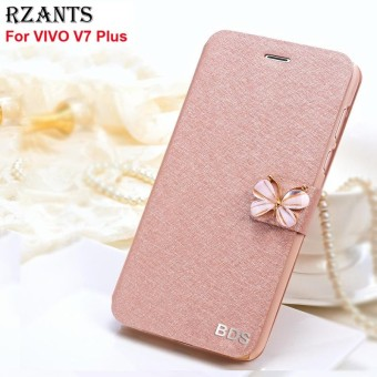 Rzants untuk V7 Plus Mewah Slim?Butterfly?with Stand Magnetik Flip Case Cover untuk